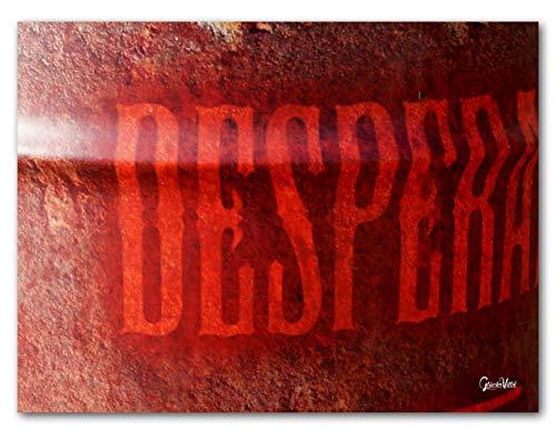 Desperado in rojo - Cuadro XXL para pared (100 x 80 cm, cristal acrílico de 5 mm)
