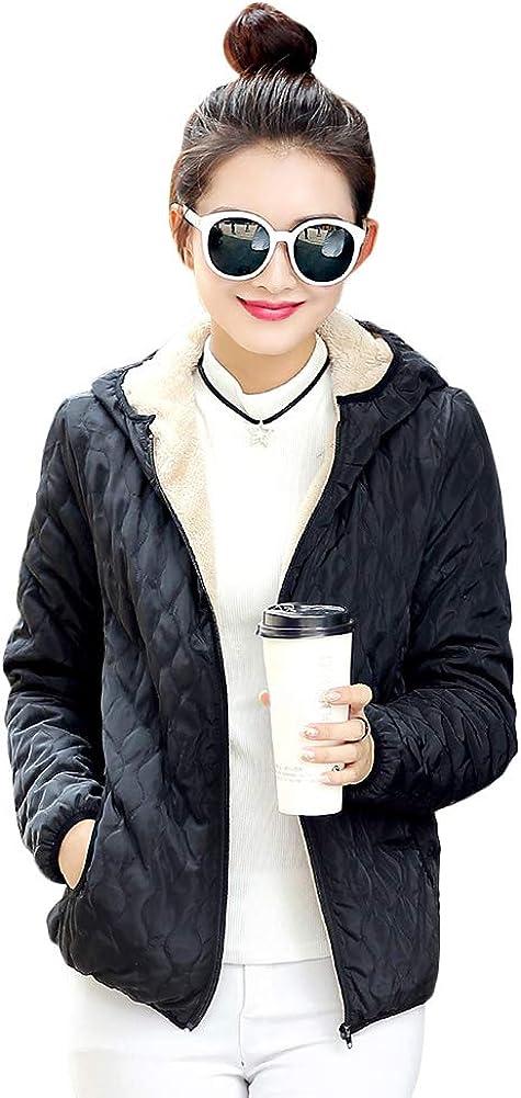Yeshire Women's Hooded Winter Warm Faux Fur Lined Short Coats Parkas Wool Jacket Outwear XX-Large Black