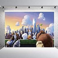 HDペット秘密の生活の背景ビニール10x7ft漫画の子供たちのパーティーの写真スタジオの小道具LYPH1730