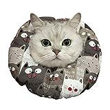 エリザベスカラー 猫 舐め防止 ソフト サイズ調整可能 軽量 ハロウィーン/クリスマス着装 手術後 保護襟 傷舐め防止 噛む防止 快適(S SIZE)