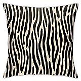 Tiger Or Zebra - Funda de almohada vertical crudo (45 x 45 cm),...