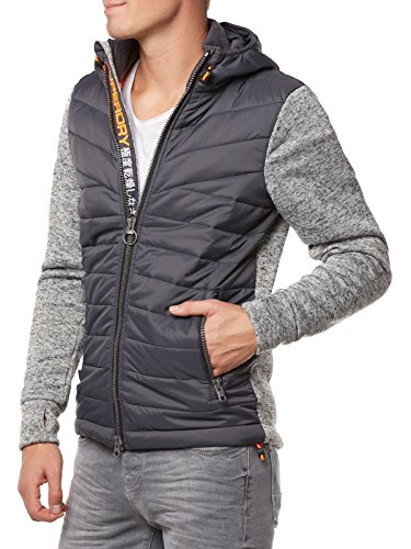 Superdry M20018PP Pull, Gris (Grey Heather), (Taille Fabricant: Small) Homme