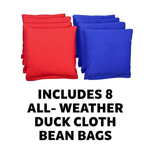 GoSports CornHole PRO Regulation Size Bean Bag Toss Game Set (Black)