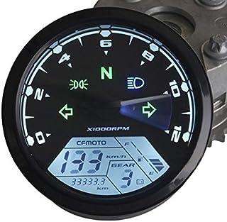 Alamor 12000Rmp Motorrad Lcd Digitaler Tachometer Tachometer F1 2 4 Zylinder