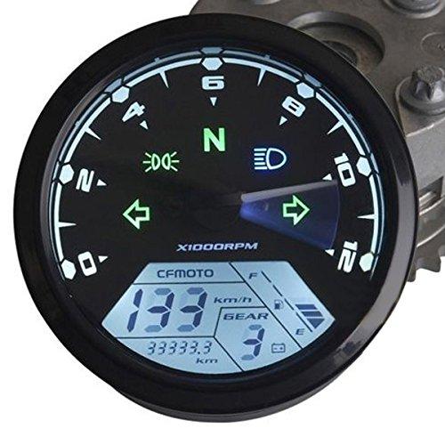 Alamor 12000Rmp Moto Lcd Digital Odomètre Tachymètre Compteur F1 2 4 Cylindres