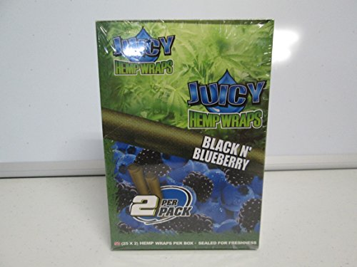 JUICY JAY'S HEMP WRAPS BLACK N BLUEBERRY FLAVOR PACK OF 25