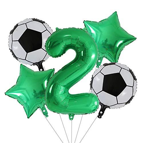 ENXI Globos 5 unids 18 Pulgadas de fútbol Baloncesto fútbol Globos de fútiles Conjunto 30 Pulgadas Número Globos Decoración de la Fiesta de cumpleaños Air Globos Niños Juguetes