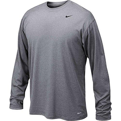 Nike Men's Legend Long Sleeve Tee, Grey, 2XL