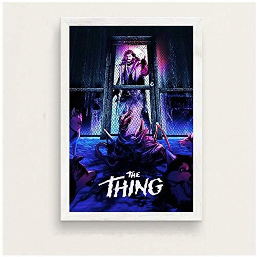 John Carpenter The Thing Movie Classic Horror Art Painting Seda Canvas Poster Wall Home Decor -60x80cmx1 Sin marco