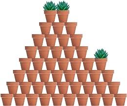 48 Pcs Tiny Terracotta Pots - 2 inch Small Mini Clay Pots with Drainage Holes Flower Nursery Terra Cotta Pots for Indoor/O...