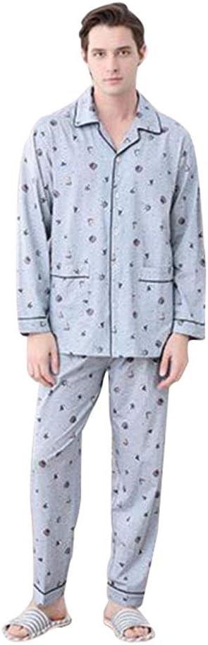 Pijamas Hombre de algodón de Manga Larga Chaqueta de Punto ...