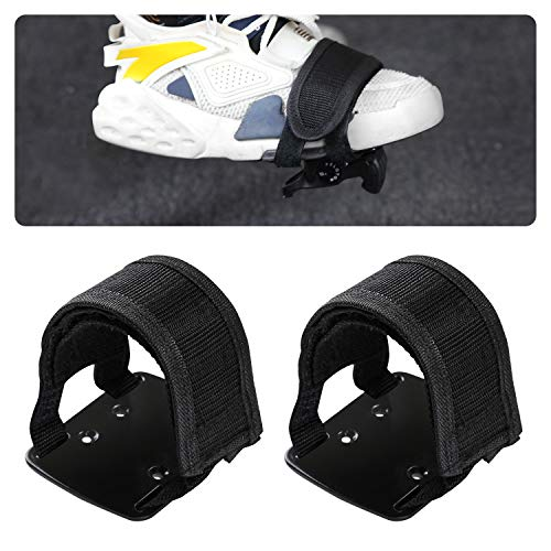 Adjustable Pedal Adapter Metal Pedals Toe Strap Cage with Straps for Peloton Bike | Accessories for Peloton | 12-Month Warranty