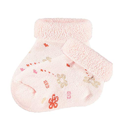 Steiff® Baby Mädchen Frottee Socken Marienkäfer, Größe:13-14, Präzise Farbe:Rosa