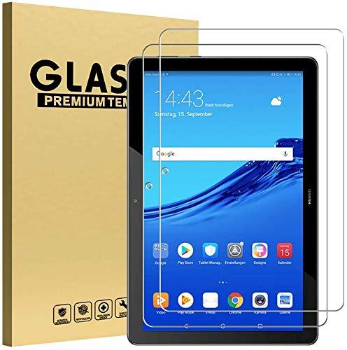GOZOPO - Protector de pantalla para Huawei T5 de 10,1 pulgadas, resistente a los arañazos, dureza de 9H, de vidrio templado