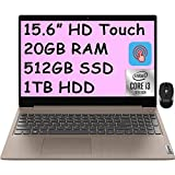 2021 Flagship Lenovo Ideapad 3 15 Laptop 15.6' HD Touchscreen Display 10th Gen Intel Core i3-1005G1 (Beats i5-8250U) 20GB DDR4 512GB SSD 1TB HDD Dolby HDMI Webcam WiFi Win 10 + iCarp Wireless Mouse