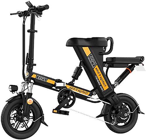 Bicicleta eléctrica de nieve, Bicicleta plegable eléctrico for adultos, de 12 pulgadas bicicleta eléctrica / Conmuten E-bici con motor 240W, 48V 8-20Ah batería de litio recargable, 3 modos de trabajo