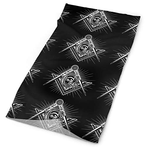 O-X_X-O Clothing Accessories Freemasonry Freemason Logos Black Headband - Multifunctional Microfiber Sports Headwear - Works as Scarf/Face Mask/Neck Gaiter/Bandana/Balaclava