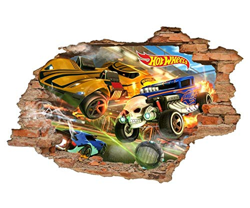 "CSCH Pegatinas de pared""Adhesivo de pared Calcomanías de pared 3d Hot Wheels, auto, adhesivos de pared de juguete, adhesivos de vinilo removibles\"""