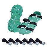 Thee prato aeratore Spike aerazione per suolo sandalo 3fasce regolabili, taglia unica Gr...