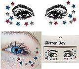 Pegatinas para la cara y joyas, diseño de estrellas de colores, maquillaje para fiestas, festivales, espectáculos y actuaciones escénicas, sg04