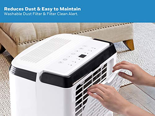 Honeywell Basement & Small Room Up to 1000 Sq. Ft, TP30AWKN Smart Wi-Fi Energy Star Dehumidifier, 30 Pint, White 8 POWERFUL DEHUMIDIFIER FOR ROOMS UP TO 4000 SQUARE FEET: This powerful beast effectively removes up to 70 pints of moisture from the air (50-Pint 2019 DOE Standard) to protect walls, curtains, furniture and appliances from excess household moisture. Ideal for large basements, living rooms, cellars, and storage rooms. PEACE OF MIND WITH A BRAND YOU TRUST: Honeywell Dehumidifiers are top rated by an independent, US-based product safety-testing agency since 2016 and all Honeywell Dehumidifiers are backed by an outstanding warranty. Plus, if you ever need help, the Honeywell Home Comfort customer service hotline connects you directly to an in-house customer support team who are ready to help (during office hours). SMART & VERSATILE: Wi-Fi-Enabled and compatible with Amazon Alexa voice commands, the Honeywell Smart Dehumidifier can be controlled from almost anywhere. Change humidity and fan-speed settings without moving away from your busy routine.