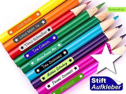feenkunst - 50 Stiftaufkleber mit Name - Stern