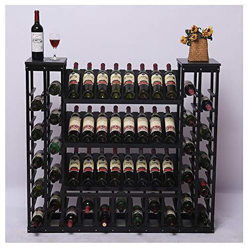 HLR-Porta bottiglie da vino Portabottiglie Autoportante E Cantinetta. Banco Di Mostra, Per Il Bar, Basement, Cantina Per Vini, Cucina, Ristorante, Grande Capacità, Scaffali Memorizzati, Altezza 108 Cm