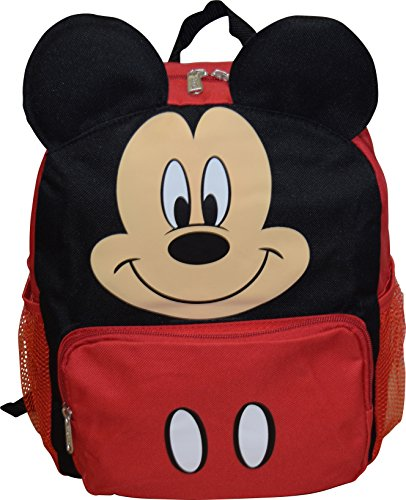 "Mickey Mouse Disney Big Face 14"" School Backpack"