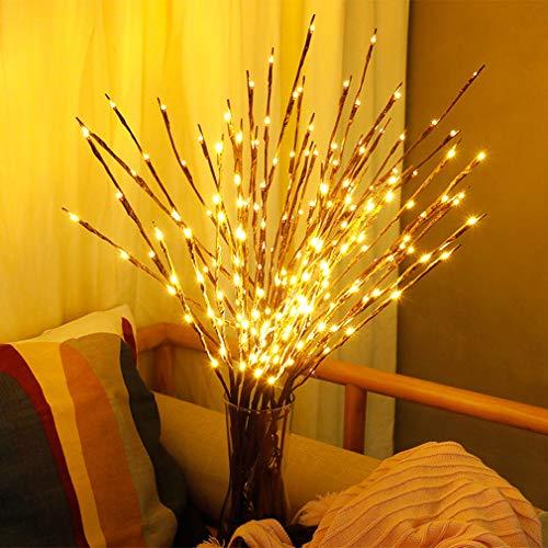 Branche Arbre Lumineux 77CM 20LEDS Lampe de Table Batteries Alimenté Pour Décoration Noël Mariage Anniversaire Saint Valentin Chambre Blanc Chaud 2PCS