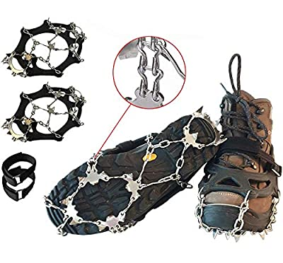 Limm Crampons Ice Traction Cleats XLarge - Shoe Grips on Bottom of Shoes Quickly & Easily Over Footwear for Snow & Ice - Portable Microspikes & Ice Cleats for Shoes & Boots