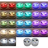 20PCS Submersible LED Lights Popular Waterproof Small Battery Operated Single Mini Led for Crystal Vases Centerpiece Decoration