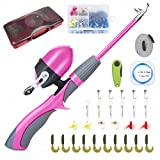 Lvaen Kids Fishing Pole Telescopic Fishing Pod All-in-One Youth Fishing Kit with Travel Box, Reel...