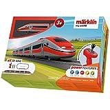 Märklin 29334 My World ‐ Startpackung Italienischer Schnellzug, Modelleisenbahn für Kinder ab 3 Jahre, Licht-und Soundeffekte, 5-teiliger Zug, batteriebetrieben, Spur H0 -