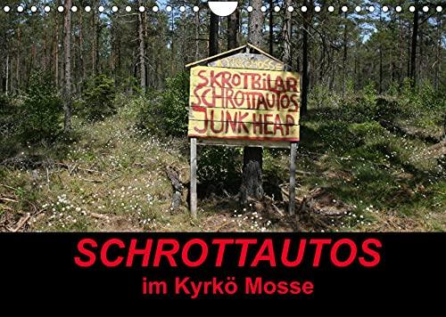 Schrottautos im Kyrkö Mosse (Wandkalender 2022 DIN A4 quer): Das Himmelreich für Schrottautos! Ein Museum mitten in Wald. (Monatskalender, 14 Seiten )
