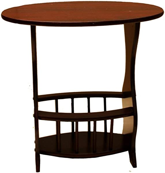 Amazing Buys Magazine Rack Side End Table In A Cherry Finish