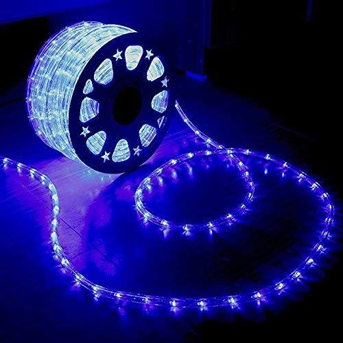 XUNATA 220V-240V LED Lichterschlauch Licht Leiste 36LEDs/m IP65 Wasserdicht Schlauch Seil Lichter für Innen Außen Garten Party Weihnachten Deko(Blau,15M)