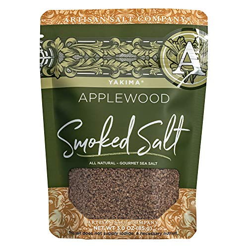 SaltWorks Yakima Applewood Smoked Sea Salt, Artisan Zip-Top Pouch, 3 Ounce