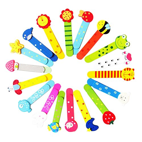 Monbedos 6pcs segnalibro con righello in legno Cartoon Animal segnalibro materiale scolastico cancelleria regalo per bambini (modello casuale)