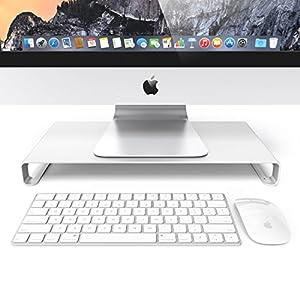 Soporte para monitor de ordenador Kernorv de aluminio, multifunción, organizador de escritorio con 4 puertos USB para Apple iMac/PC/TV/MacBook/Ordenador portátil.: Amazon.es: Electrónica