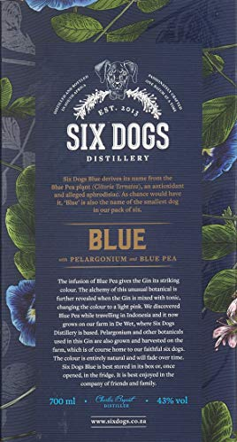 Six Dogs Gin Blue [Perlagonium and Pea] (1 x 0.7 l) - 5