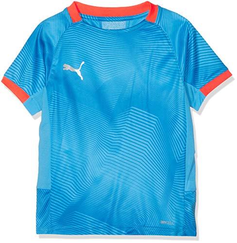 PUMA Kinder ftblNXT Graphic Shirt Jr T, Bleu Azur-Red Blast, 152