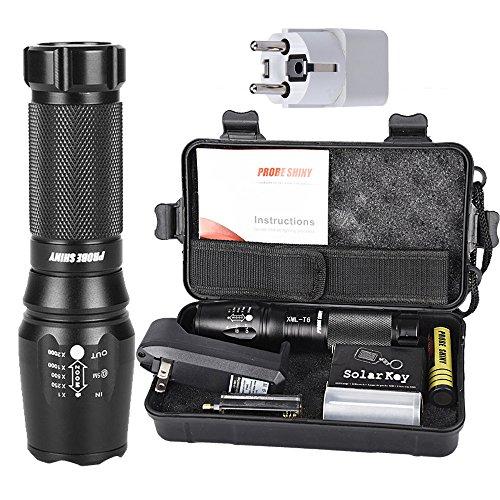 zolimx G700 X800 LED Zoom Linterna Táctica Grado Militar Equipado US Cargador...