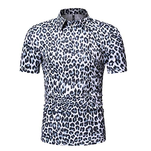 TEBAISE Freizeithemden Mode Business Style Herren Männer Sommer Bachelor Party Dating Charming Boho Floral Kurzarm Leinen Grundlegende T-Shirt Bluse Top Plus Größe 2019 Sommer Angebote