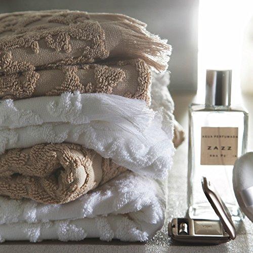 Blanc des Vosges Princesse Drap de douche Coton Blanc 140 x 70 cm