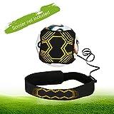 Football Kick/Ballon Football Ceinture D'entraînement, Linkax Ballon de Foot Entrainement avec Élastique Ceinture Ajustable Solo Kicking Pratique pour Jeux Exterieur Enfant et Adulte Entraineur
