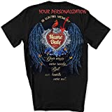 Personalized Memory Shirt, in Loving Memory Your Wings were Ready But Our Hearts were Not Shirt, Angel Wings Shirt, Lost Loved One Shirt, Memorial Shirt, Gift for Dad, Gift for Mom, Shirt White
