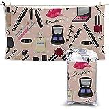 W-wishes Cosméticos Productos de Maquillaje Set Toalla de Secado rápido Toalla de Playa Toalla de Microfibra de Viaje Gimnasio Toalla de Playa Estera