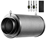 VIVOSUN 4 Inch Air Carbon Filter Smelliness Control with Australia Virgin Charcoal for Inline Fan, Grow Tent Smelliness Scrubber, Pre-Filter Included, Reversible Flange 4
