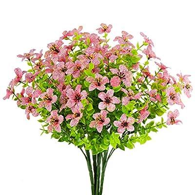 Artificial Fake Flowers UV Resistant 4pcs Outdo...