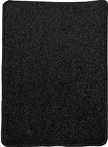 COMERCIAL CANDELA FELPUDOS Y ALFOMBRAS Alfombra de Salón Frisse Pelo Tupido Color (Jaspe Negro, 100_x_150_cm)